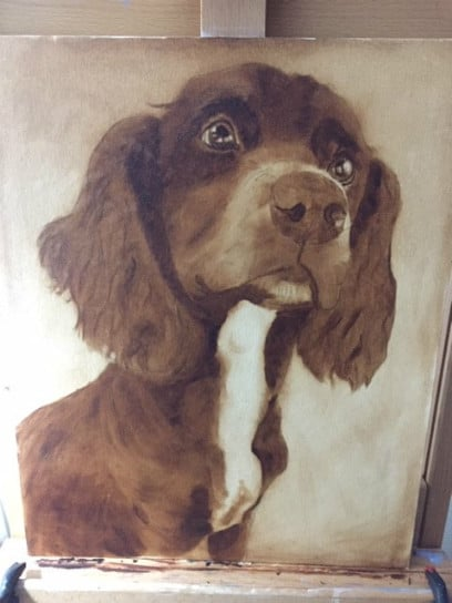 Sue Omara Art - Sprocker Puppy 2