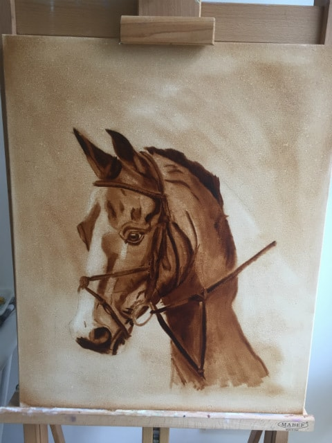Marksman the Horse - Sussex Art Studio