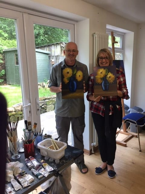 Sue Omara Art Classes - Testimonial - Tracey and Derek
